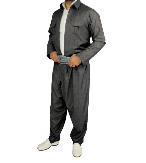 لباس کردی مردانه مدل بارزانی راه راه