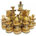 مهره شطرنج چوبی طرح آصف نگین دار