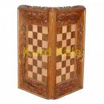 تخته نرد و صفحه شطرنج منبت مینیاتور طرح سوران