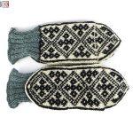 جوراب مردانه سنتی کردستان ساق بلند طرح هندسی