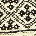 جوراب مردانه سنتی کردستان ساق بلند طرح هندسی رنگ قهوه ای - کرم
