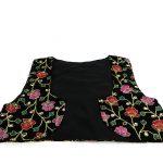 جلیقه زنانه سنتی کردستان طرح گلدوزی رنگ قرمز - بنفش