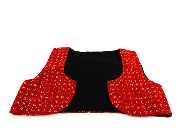جلیقه زنانه سنتی کردستان طرح سنگ دوزی رنگ قرمز