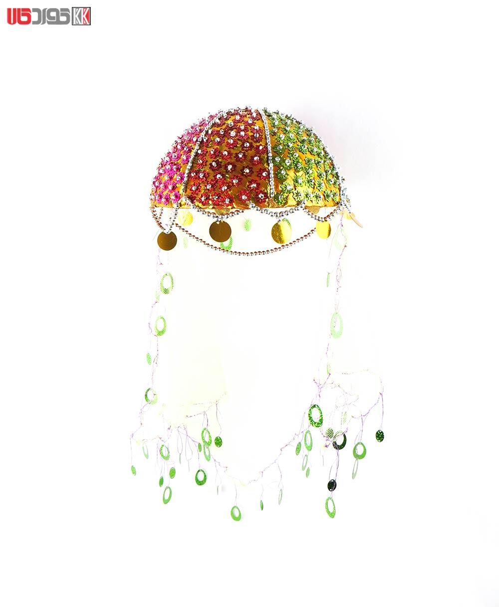 کلاه سنتی دخترانه کردستان طرح روژا