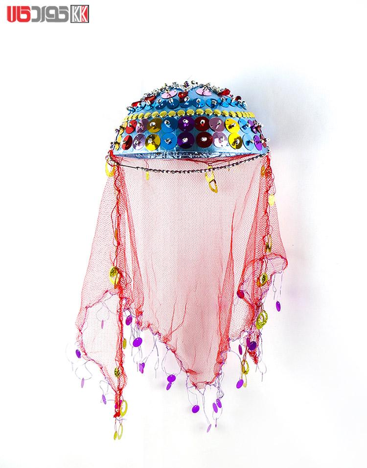 کلاه سنتی دخترانه کردستان طرح بارین