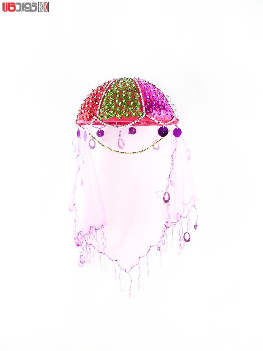 کلاه سنتی دخترانه کردستان طرح مستوره