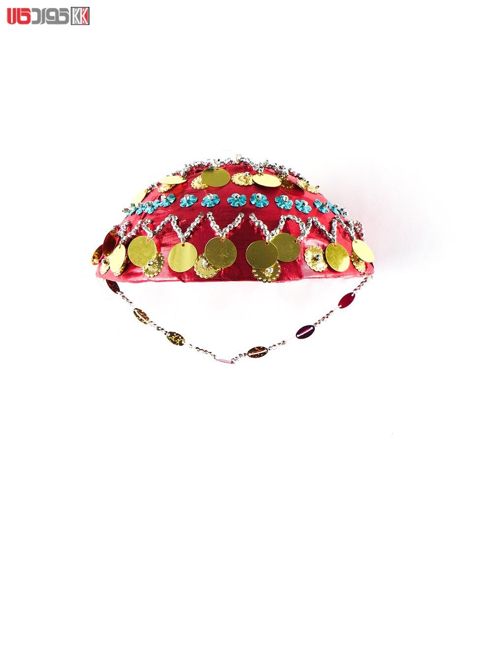 کلاه سنتی دخترانه کردستان طرح ژیان