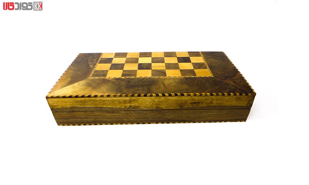 صفحه شطرنج و تخته نرد سنندج مدل هورامان
