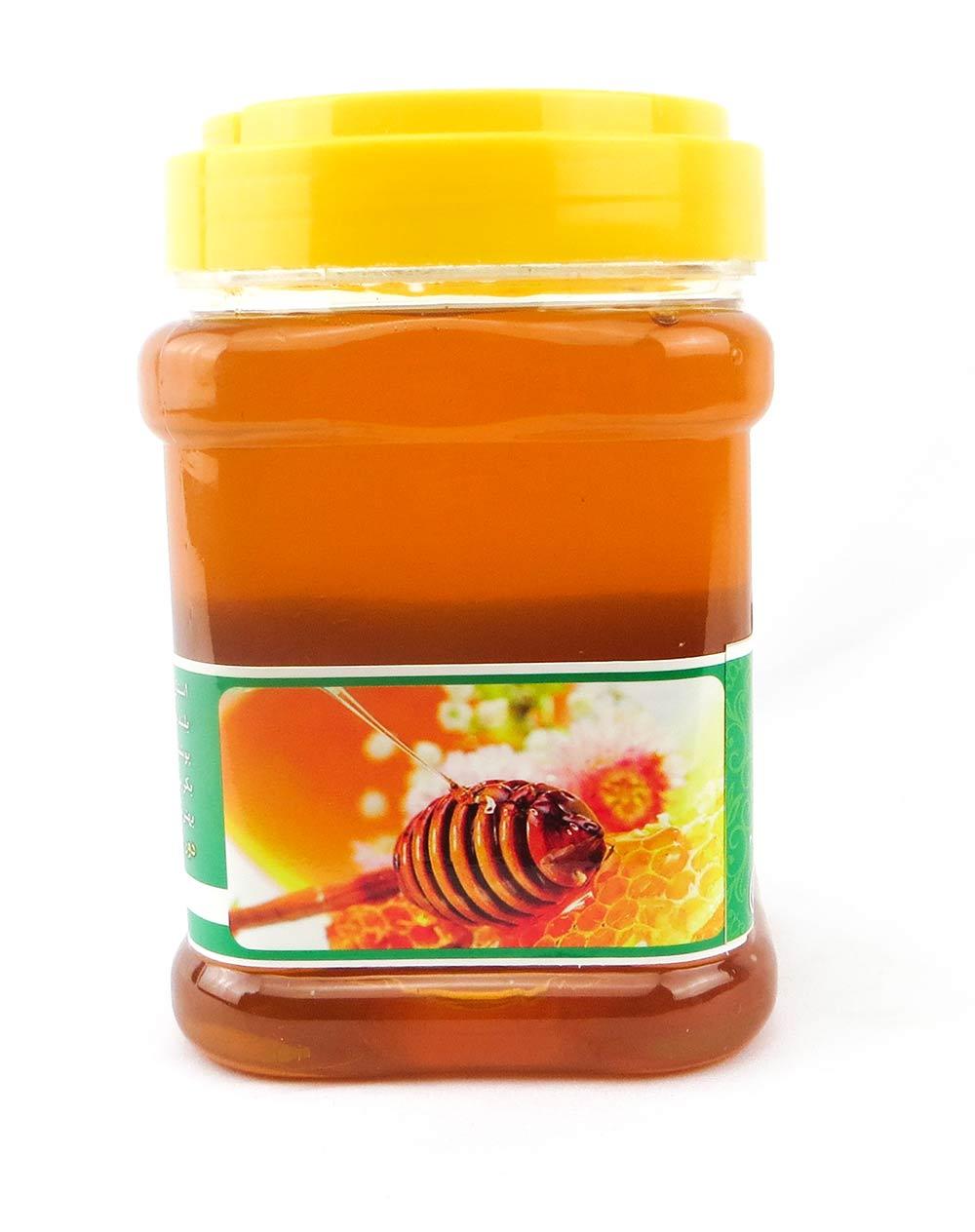 عسل طبیعی کردستان منطقه اورامان 500 گرم ظرف پلاستیکی