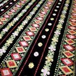 پارچه لباس کردی زنانه مخمل اصلی قلاب بافی طرح هندسی