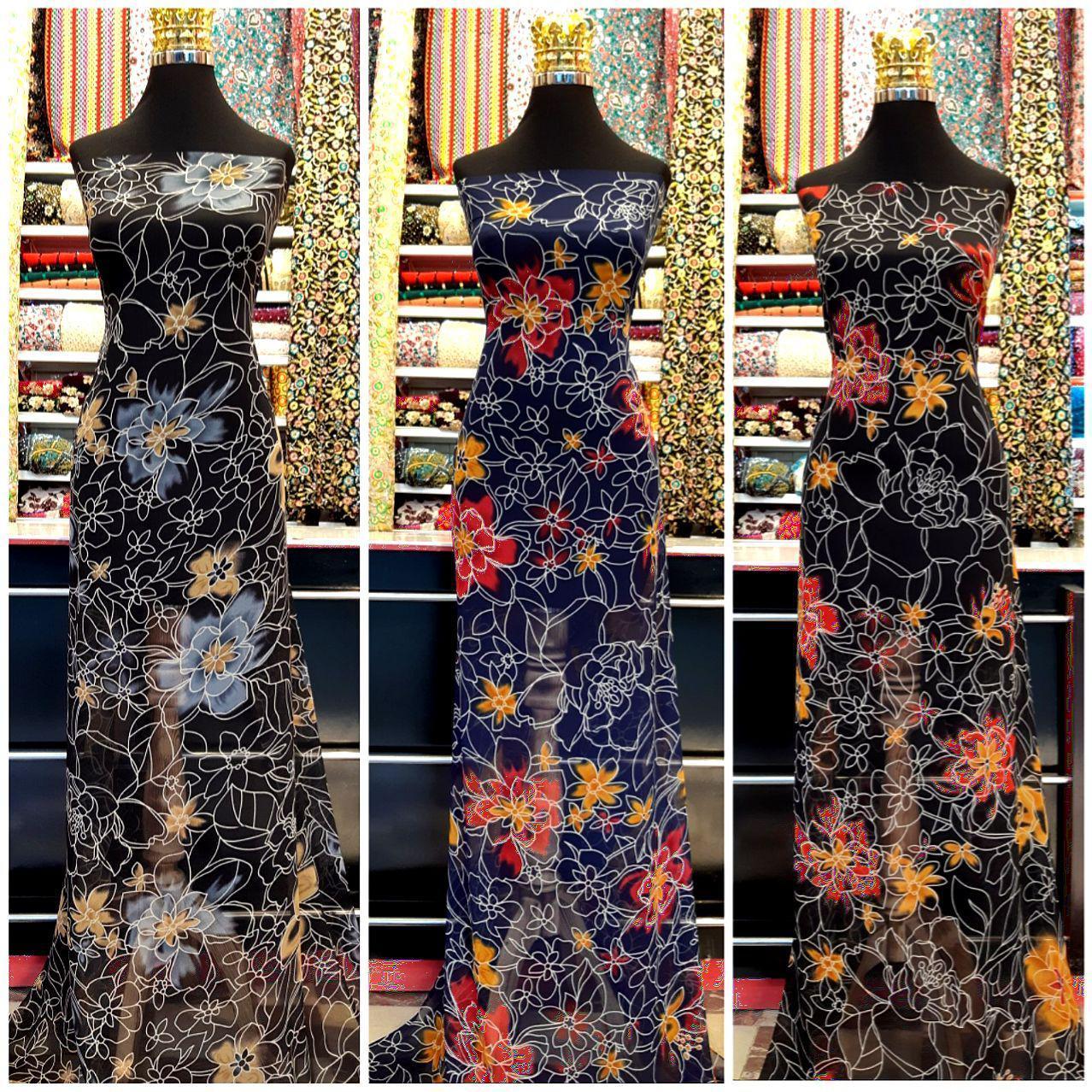 پارچه لباس کردی زنانه حریر ریفرا