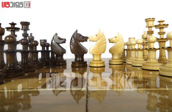 مهره شطرنج چوبی ساده طرح کرفتو