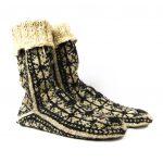 جوراب پشمی مردانه دستبافت سنتی کردستان کد 104