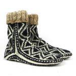 جوراب پشمی مردانه دستبافت سنتی کردستان کد 106