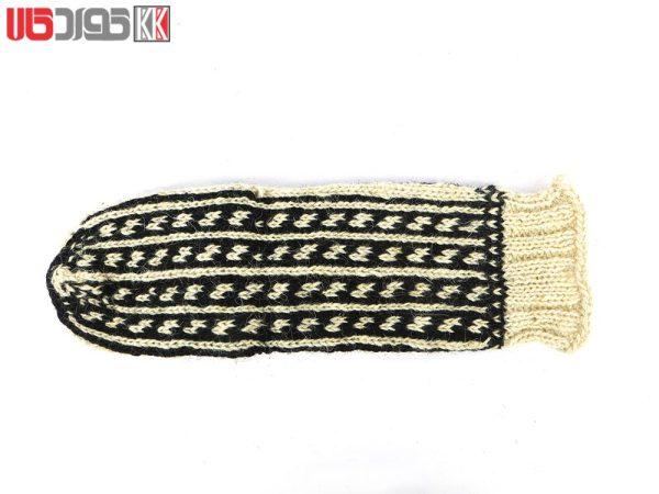 جوراب پشمی مردانه دستبافت سنتی کردستان کد 109