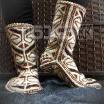 جوراب پشمی زنانه دستبافت سنتی کردستان کد 113