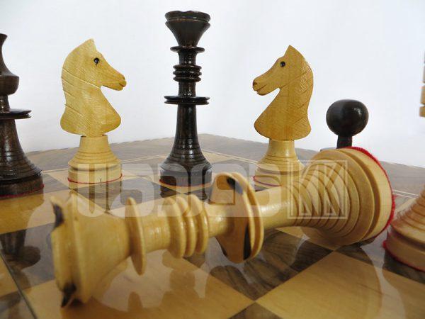 مهره شطرنج چوبی ساده طرح زریبار