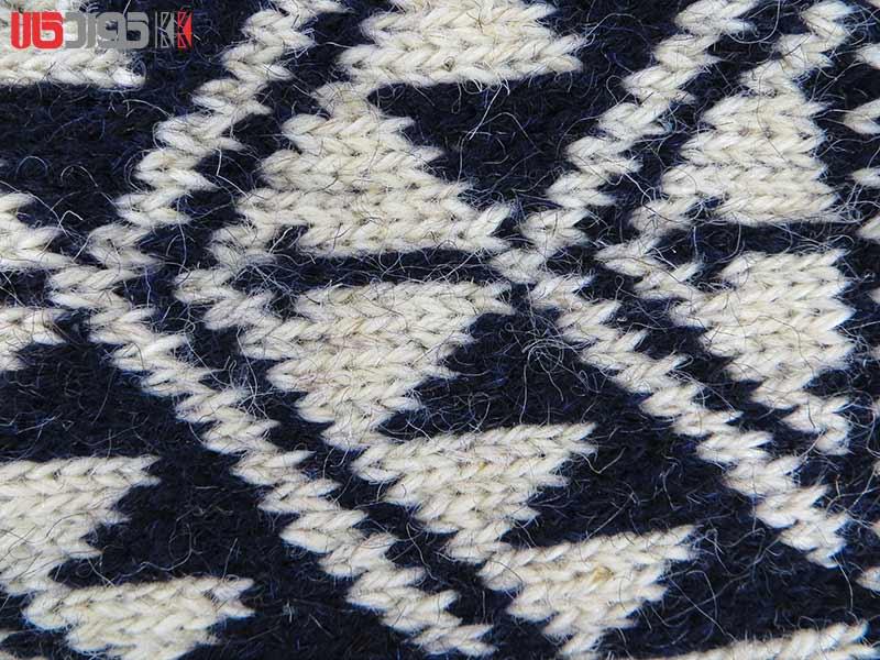 جوراب پشمی مردانه دستبافت سنتی کردستان کد 113