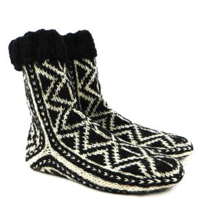 جوراب پشمی مردانه دستبافت سنتی کردستان کد 112
