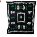روسری سنتی کردستان طرح ترنج رنگ مشکی- سبز