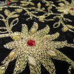 جلیقه زنانه سنتی کردستان مخمل گیپور طلایی نگین دار کد 113