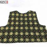 جلیقه زنانه سنتی کردستان مخمل گیپور طلایی نگین دار کد 115