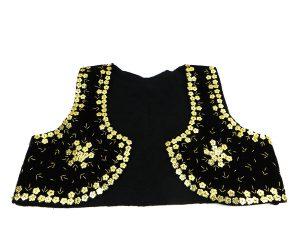 جلیقه زنانه سنتی کردستان طرح پولک دوزی طلایی