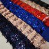 پارچه لباس کردی زنانه توری اتریشی پولک لرزان رنگبندی کد A-108