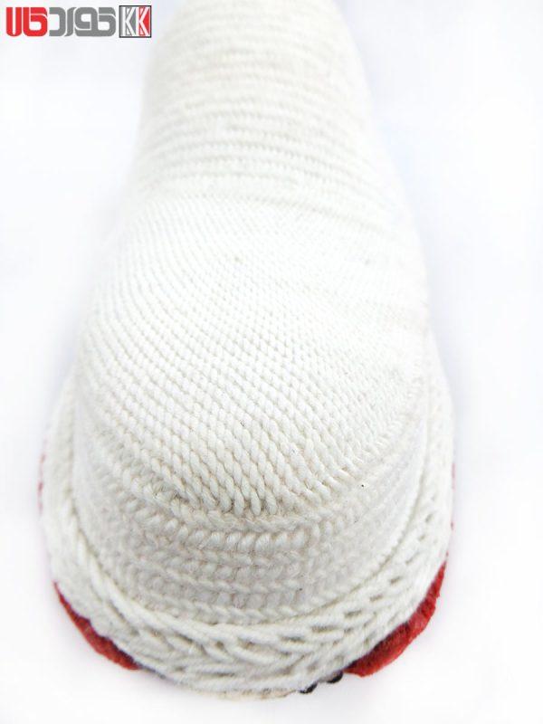 گیوه صندل مردانه کلاش کردستان رنگ سفید کد 01