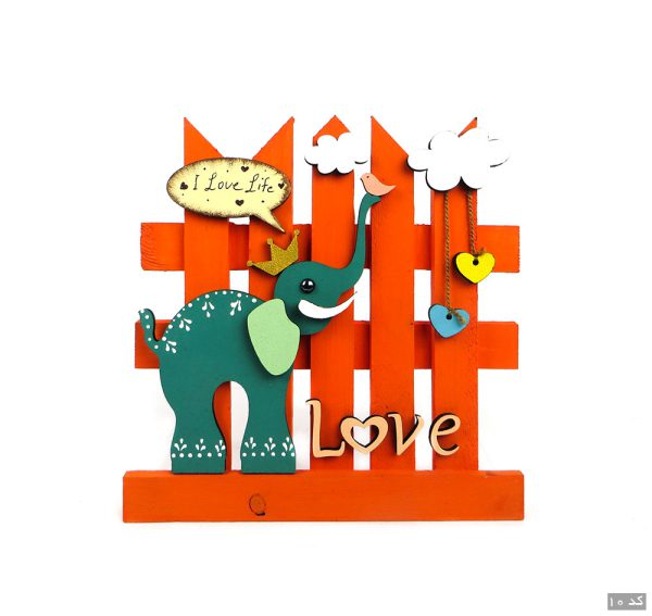 آویز جاکلیدی دیواری چوبی فانتزی کد 101