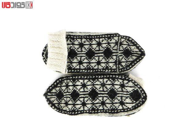 جوراب پشمی مردانه دستبافت سنتی کردستان کد 114