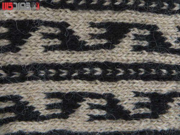 جوراب پشمی مردانه دستبافت سنتی کردستان کد 115