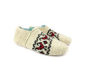 جوراب پشمی زنانه دستبافت سنتی کردستان کد 114