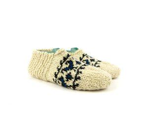 جوراب پشمی زنانه دستبافت سنتی کردستان کد 115