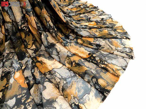 پارچه لباس زنانه حریر رنگ نارنجی 3.5 متری