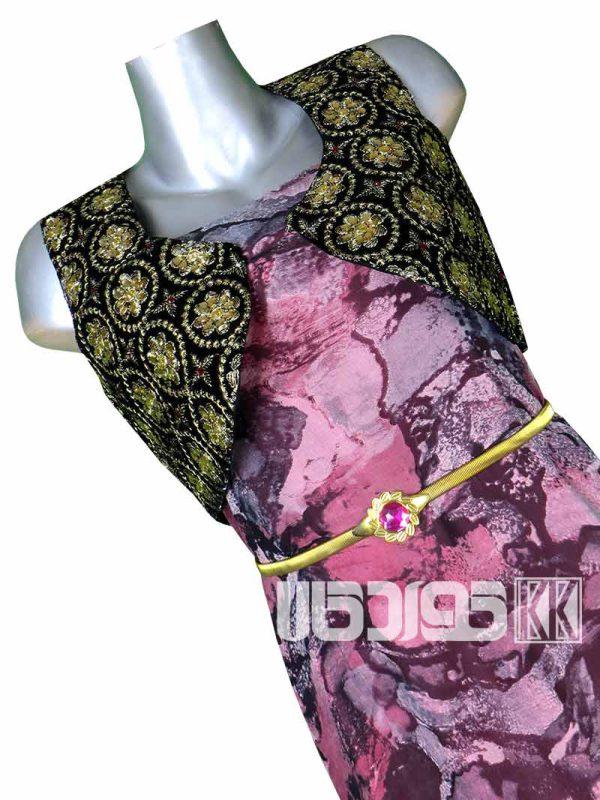 پارچه لباس زنانه حریر رنگ صورتی 3.5 متری