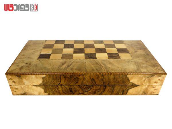 صفحه شطرنج و تخته نرد سنندج تمام گره سفید مدل هوزان کد 101