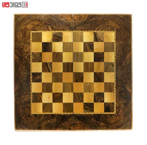 صفحه شطرنج و تخته نرد سنندج تمام گره گردو مدل روژمان کد 102
