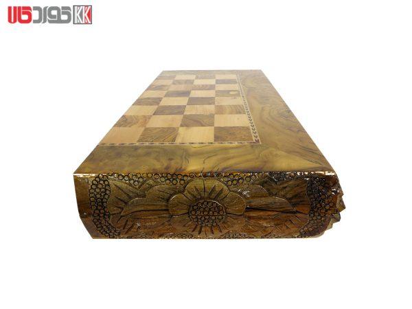 صفحه شطرنج و تخته نرد سنندج چوب سنجد مدل باشور