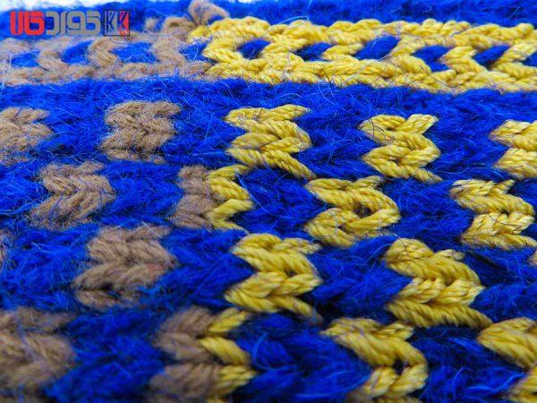 جوراب پشمی زنانه دستبافت سنتی کردستان کد 117