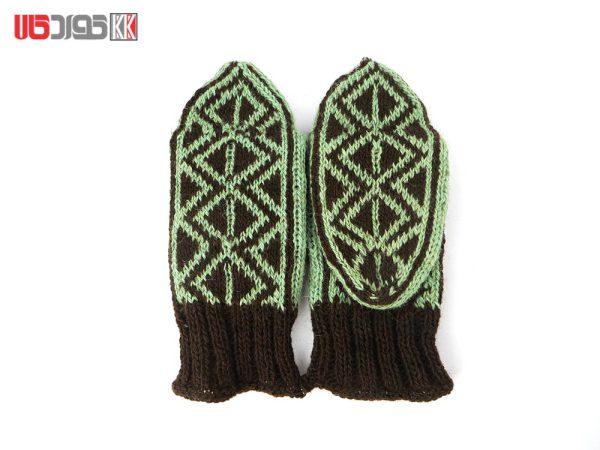 جوراب پشمی زنانه دستبافت سنتی کردستان کد 118