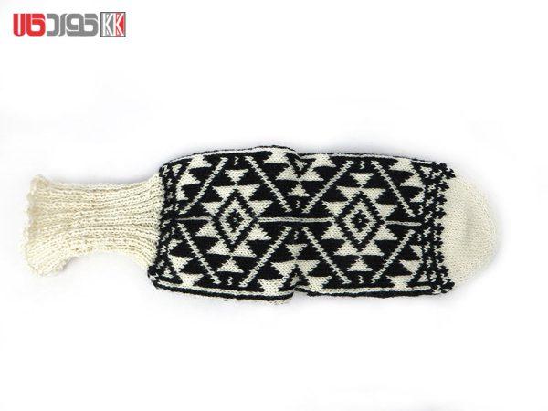 جوراب پشمی مردانه دستبافت سنتی کردستان کد 117