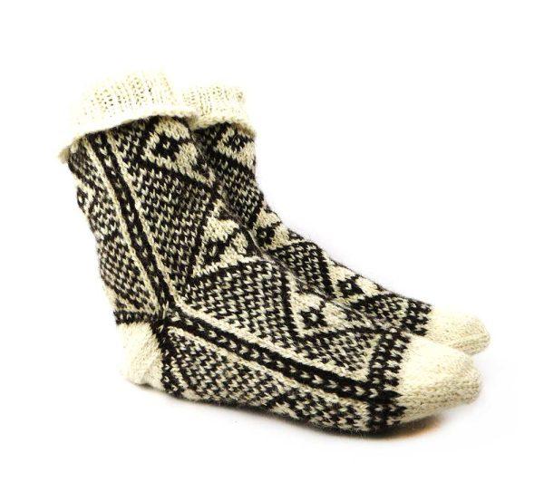 جوراب پشمی مردانه دستبافت سنتی کردستان کد 118