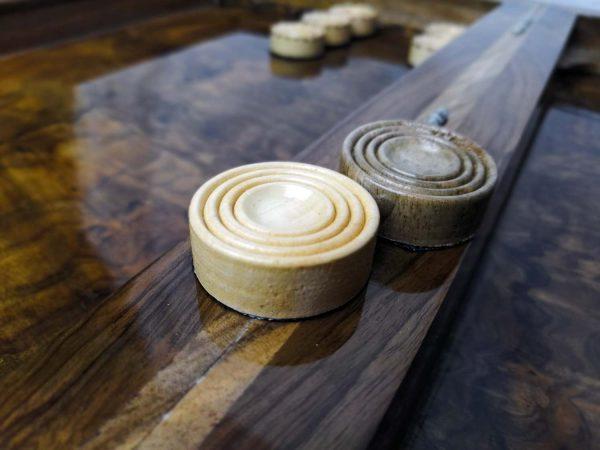 مهره تخته نرد چوبی خودرنگ کد 101