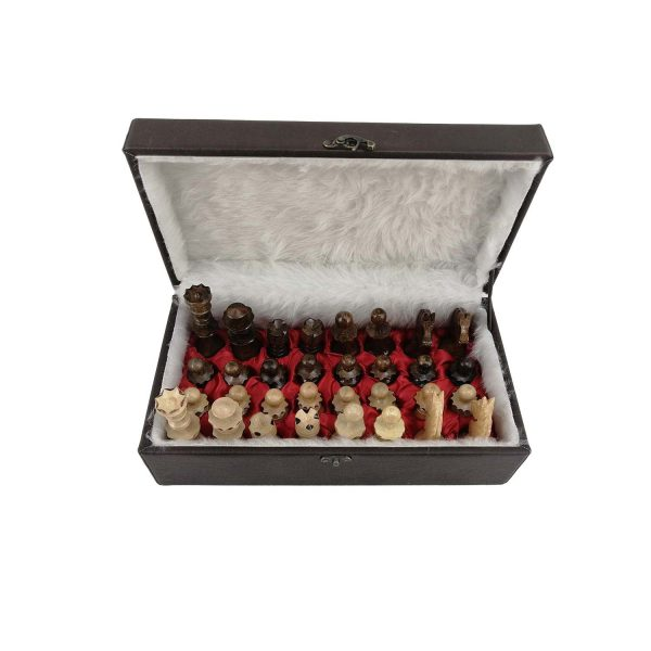 جعبه شطرنج چرمی کد 102