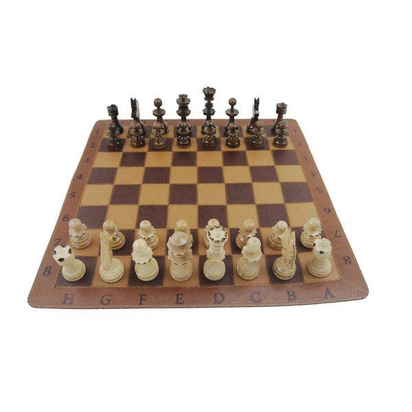 صفحه شطرنج چرم طبیعی دست دوز