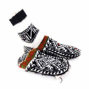 جوراب زنانه دست بافت کاموایی ساقدار کد 202