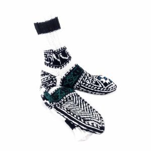 جوراب دست بافت کاموایی ساقدار کد206