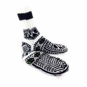 جوراب دست بافت کاموایی ساقدار کد209