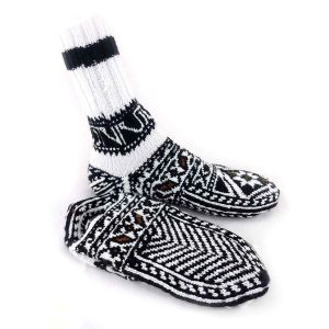 جوراب دست بافت کاموایی ساقدار کد210